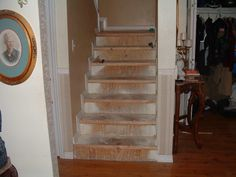 Laminate Flooring On Stairs, Cork Flooring, Wood Stairs, Carpet Stairs, Bedroom Accessories, Wall Spaces, Home Furnishings, Laurel Mountain, Solid Wood