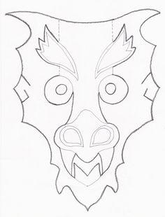 Chinese New Year Printable Craft Dragon Animal Masks