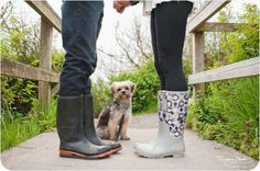 Dog Family Photo - Love the boots