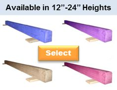 61cbf80c36af Gymnastics Balance Beams are available in all heights and 3 lengths (6ft