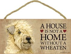 Soft Coated Wheaten Terrier Indoor Dog Breed Sign Plaque A House Is not A Home | eBay