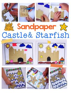 Summer themed Sandpaper Castle and Starfish activities!