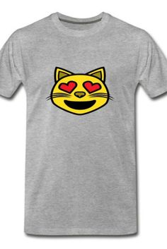 This Cat love Eyes Men's Premium T-Shirt is a symbol of cute, funny, cool, unique, and happiness to wear. Modern and handsome, this cat art is truly the perfect gift for any cat lover in your life.