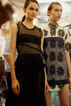 An exclusive backstage look at Aquilano Rimondi SS16 collection shown during Milan Fashion Week brought to you by CRASH.FR / MFW coverage.