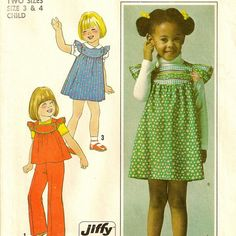 A Gathered Front, Yoked, Back Buttoned to Front Jumper, Top, and Pants Pattern