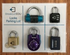 Printable Parking Lot and tips from BreakoutEDU. Link: http://www.breakoutedu.com/locktips