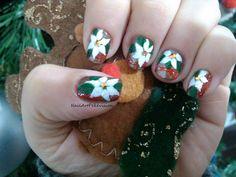 Nail Art - Flor de Navidad