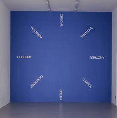 contemporary-art-blog: Robert Barry, Wallpiece, 2005