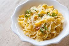 barefoot in the orchard: Mid-Week Recipe - Jamie Oliver's - Zucchini Carbonara