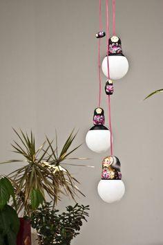 Matryoshka Lamp Ceiling Pendant Light Art Folk & by laPupaHuman