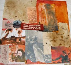 collage mixed media art HOW TO