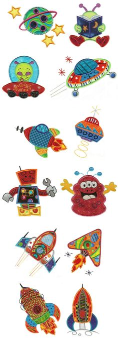 Embroidery | Machine Embroidery Designs | Out of this World Applique