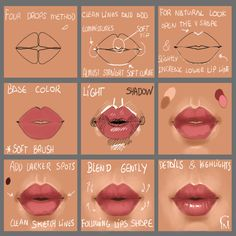 Lips Step by Step by GloriaPM.deviantart.com on @DeviantArt