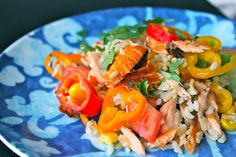 Salmon Brown Rice Salad - THE FIT COOK