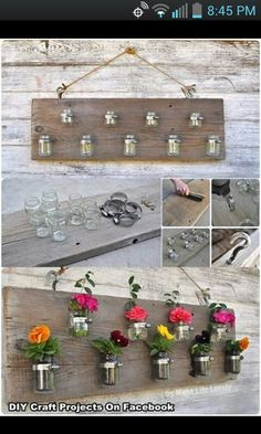 DIY vase display.