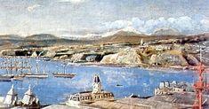 """valparaíso en 1895        Alberto Valenzuela LLanos (1869-1925), chilenos. Es uno de los llamados """"grandes maestros de la pintura chilena""""... Cities, American Art, South America, Statue Of Liberty, Paris Skyline, Painting, Travel, Artworks, Landscape Paintings"""
