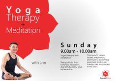 Sunday Yoga Therapy + Meditation + 5 Tibetan Rites Class with Jonathan Ong