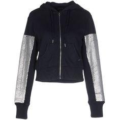 True Religion Sweatshirt ($130) ❤ liked on Polyvore featuring tops, hoodies, sweatshirts, dark blue, true religion, true religion sweatshirt, sequin sweatshirt, long sleeve tops and long sleeve cotton tops