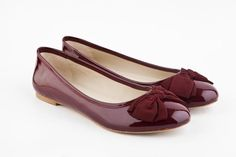 c3530d5405d9 Mario Giordano Burgundy red Patent leather Ballet flats  balletflats  shoes