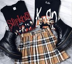 Grunge Style Outfits, Outfits Casual, Punk Outfits, Hipster Outfits, Mode Outfits, Grunge Fashion, Gothic Fashion, Look Fashion, Trendy Fashion
