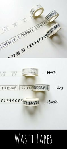 These washi tapes are perfect for planners and bullet journaling. These month, day and number washi tapes are soo cute. :) #planner #bujo #bujoinspire #washi #washitape #ad