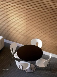 STUA Zero table with Globus chairs