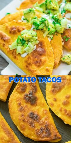 These crispy Potato Tacos make a perfect vegetarian lunch or dinner. They are filling, tasty, and easy to make. If you are using leftover mashed potatoes, you can make them in just 10 minutes from sta Mexican Food Recipes, Vegetarian Recipes, Cooking Recipes, Healthy Recipes, Vegetarian Tacos, Soft Food Recipes, Ark Recipes, Buttermilk Recipes, Flour Recipes