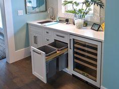 Beverage Center w/ 3-Temp Cooler for White, Red + Sparkling Wines. HGTV Smart Home >> http://www.hgtv.com/smart-home/hgtv-smart-home-2013-kitchen-pictures/pictures/page-11.html?soc=pinterest