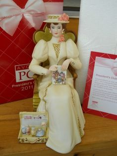 Avon Mrs. Albee 2011 Full Size Figurine in New In Box . Still need this one