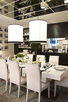 Brilliant way to use black in a room and still be light. Very elegant!