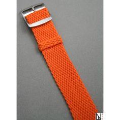 Bracelet montre Perlon tressé Orange