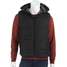 This men's reversible nylon vest to plaid is fun, versatile and functional. You can layer it outside of your favorite sweater for shirts for extra warmth.