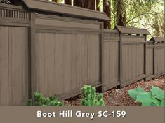 Behr's Solid Color Weatherproofing Wood Stain in Stonehedge - Fence Paint Colours, Deck Stain Colors, Deck Colors, Exterior Paint Colors, House Colors, Cedar Fence Stain, Wood Stain, Paint Stain, Backyard Fences