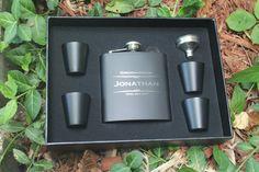 Groomsmen Gift 2 Flask Gift Set  Personalized Flask by BackRoadsPZ
