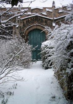 hidden garden door