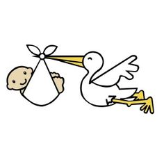 i think i m in love with this design from the silhouette design rh pinterest com stork baby clipart free