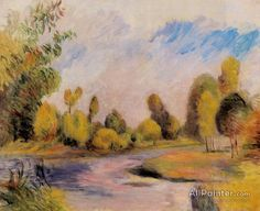 Pierre Auguste Renoir Banks Of A River oil painting reproductions for sale