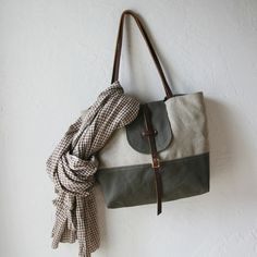 infusion: 2-Tone Tote in Hemp and Olive