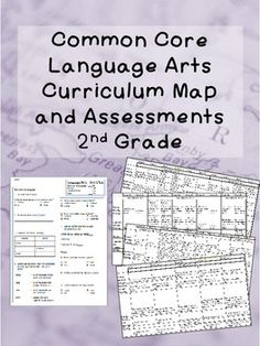 2nd Grade Common Core Curriculum Map and Assessments, Language Arts ($) Show you what to teach weekly in reading strategies, phonics, grammar, and writing. Includes 6 unit reviews and unit tests that correspond