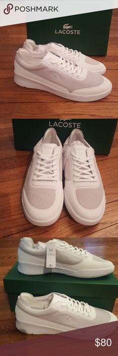 New Lacoste White Sneakers Spirit Elite Lacoste Shoes Sneakers