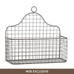 Turn unused wall space into a convenient storage area with the Three Hands Hanging Metal Wall Rack . You can hang this sturdy wire basket quickly by.