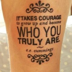 Girls Quote Tattoos #Tattoo #Tattoos #GirlTattoos #TattoosForGirls