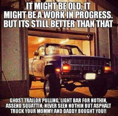 jacked up chevy trucks pictures Jacked Up Trucks, Gmc Trucks, Diesel Trucks, Cool Trucks, Pickup Trucks, Truck Drivers, Toyota Trucks, Chevrolet Trucks, Truck Quotes