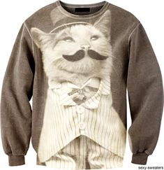 Custom sweater a la like a Sir mister cat design