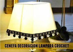 Cenefa crochet decoracion lampara - Patrones Crochet