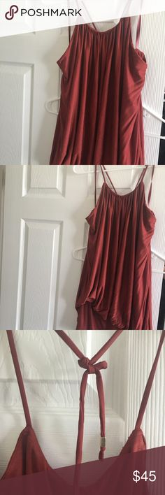 NWT. WHBM Date Halter Size L Never worn great summer halter with open back. Inside is layered so minimal to no bra necessary depending on your comfort level. White House Black Market Tops Tank Tops