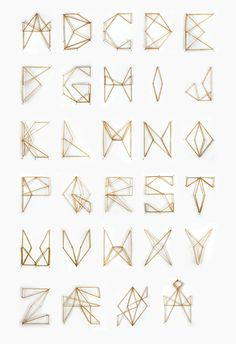 I love beautiful things made from the simplest of items. Elastic band alphabet by Jenny Kyvik Hutchens. http://www.jennyhutchens.com
