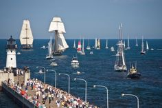 The Tall Ships coming into Duluth