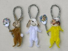 Easter Decorations  Chenille Spring by oldworldprimitives on Etsy, $15.00
