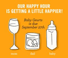 happy hour is getting a little happier - birth announcement